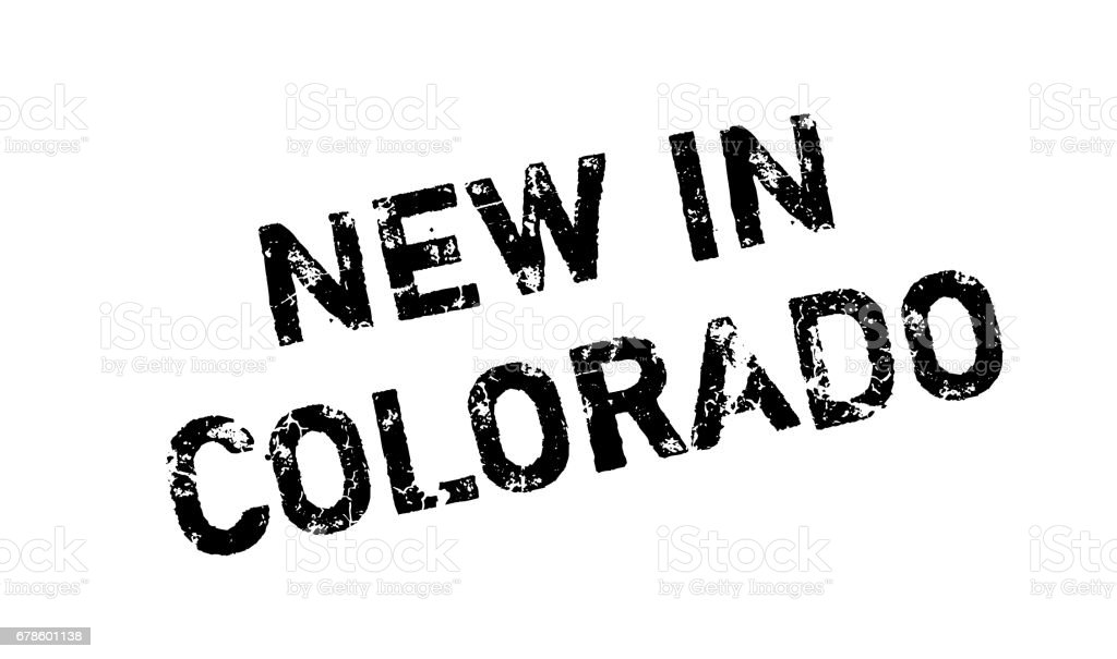 New In Colorado rubber stamp vector art illustration