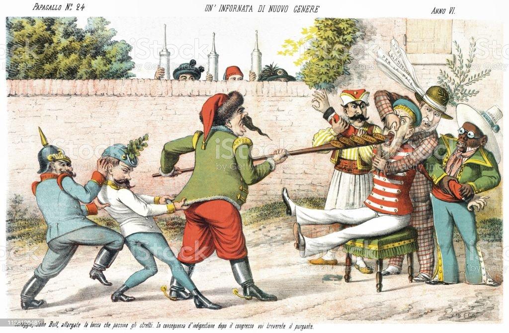 新しい種類のオーブン1878 年の風刺漫画を毎週 - 1878年のベクター ...