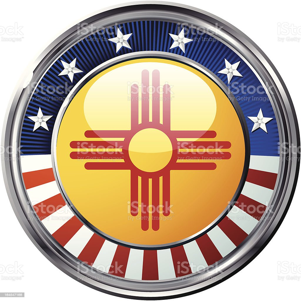 New Mexico flag vector art illustration