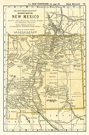 Map from the Complete Handy Atlas of the World - 1898