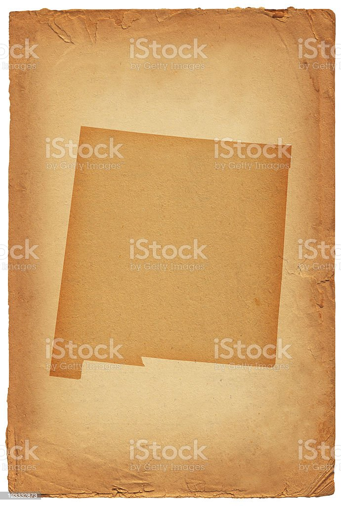 New Mexico state map on old paper Background royalty-free stock vector art