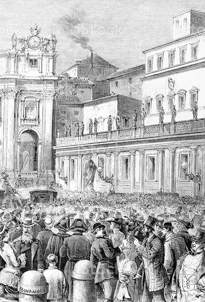 Novo Papa praclamation - ilustração de arte em vetor