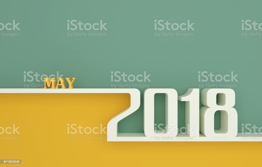 New Year 2018 vector art illustration