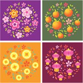 Vector of new year background with different color.