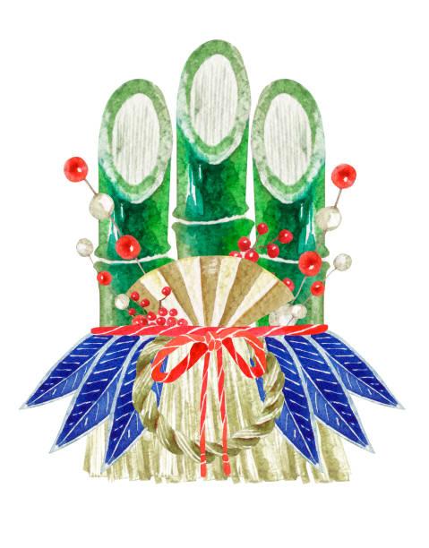 新年竹飾り - 門松点のイラスト素材/クリップアート素材/マンガ素材/アイコン素材