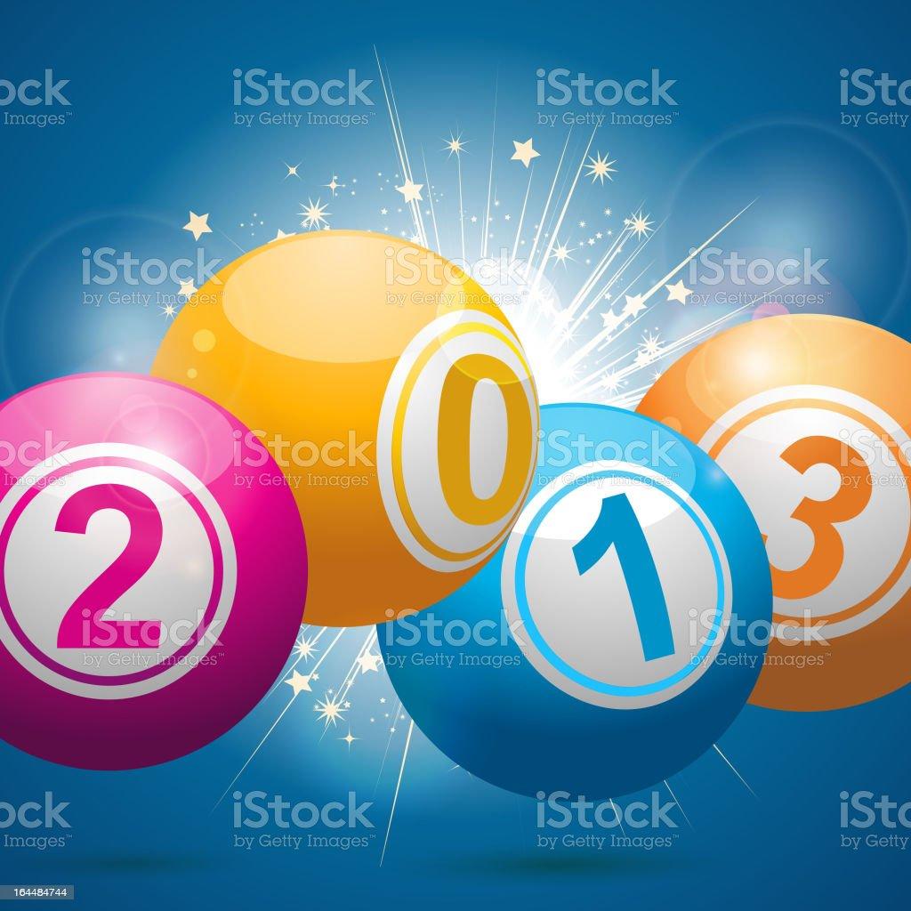 Año nuevo Fondo de bola de lotería bingo - ilustración de arte vectorial