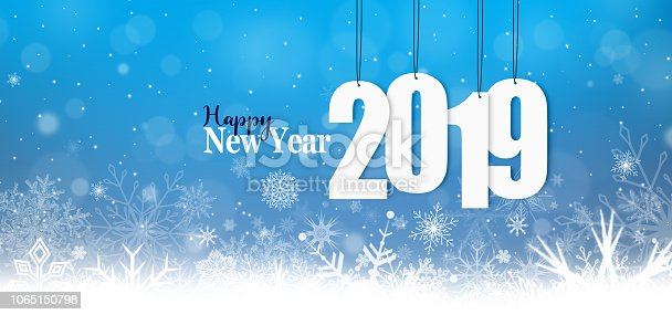 istock New year. Christmas. Snowflakes. New Year's cards. 1065150798