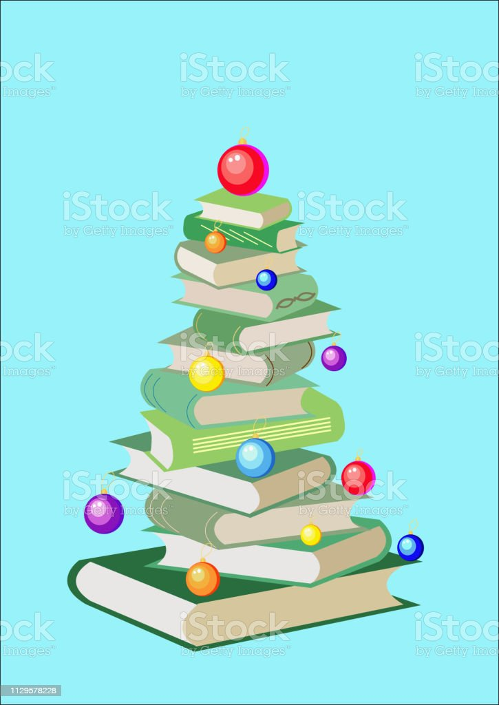 new year tree from colorful books and christmas balls cartoon xmas illustration cute bright pile of books home library happy education stock illustration download image now istock new year tree from colorful books and christmas balls cartoon xmas illustration cute bright pile of books home library happy education stock illustration download image now istock