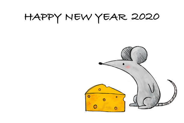 New Year's Card for 2020 vector art illustration