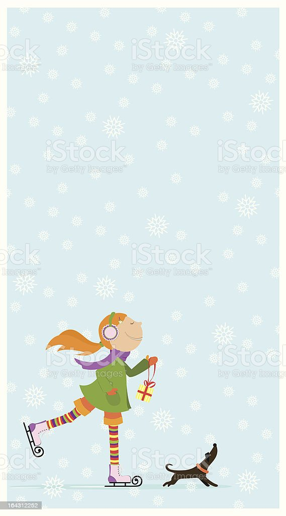 New Year's or Christmas card. royalty-free stock vector art