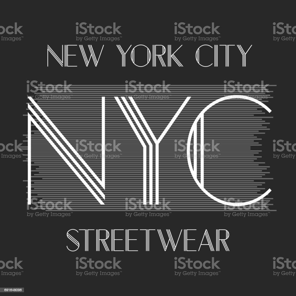 New York City Art Street Graphic Style Nyc Fashion Stylish Print ...