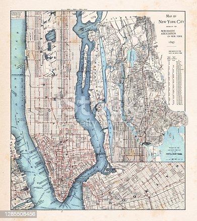 istock New York City Map with Manhattan 1897 1285508456