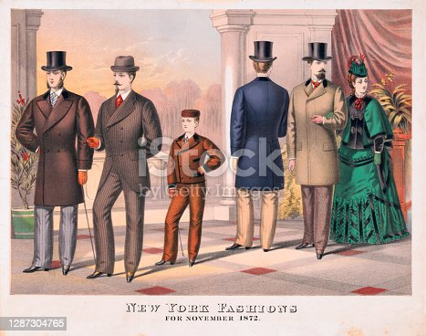 istock New York Fashions in 1872 1287304765