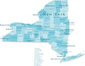 New York State Vector Map Regions Isolated