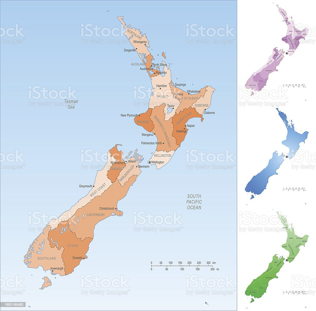 Rotorua New Zealand Map.New Zealand Map Stock Illustration Download Image Now Istock