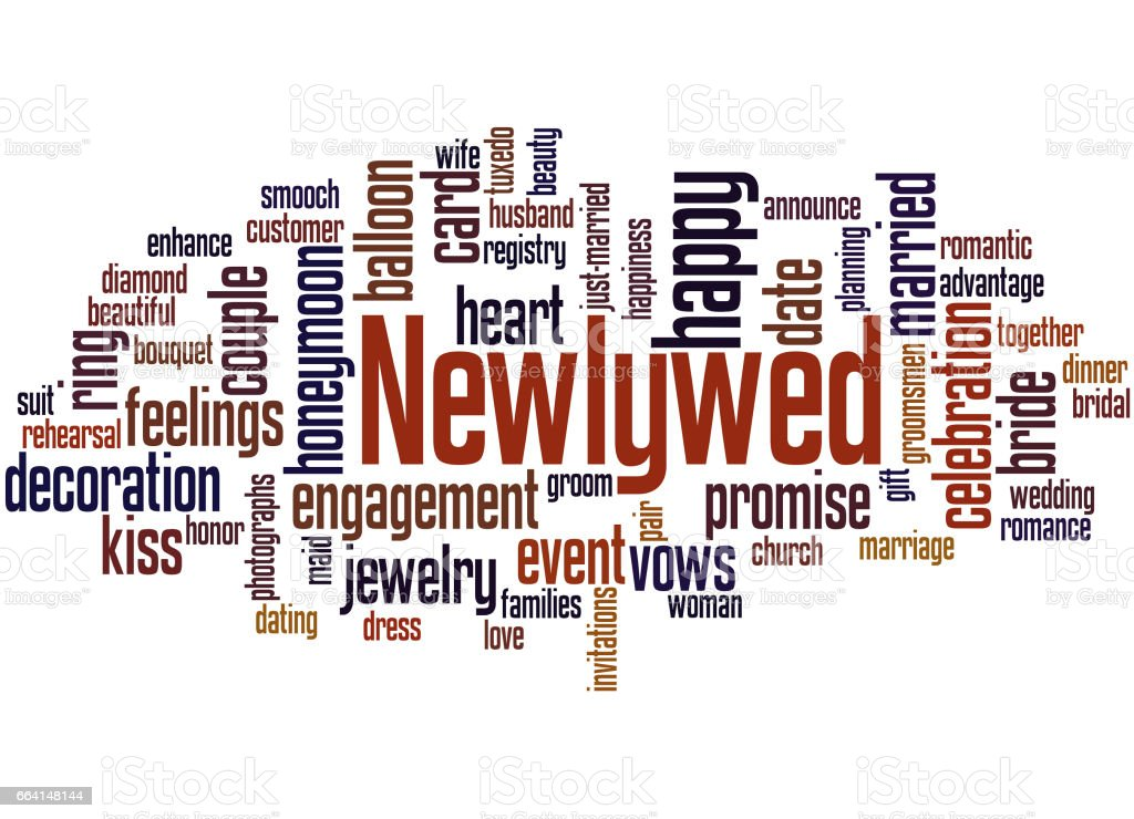 Newlywed, word cloud concept 3 newlywed word cloud concept 3 - immagini vettoriali stock e altre immagini di adulto royalty-free
