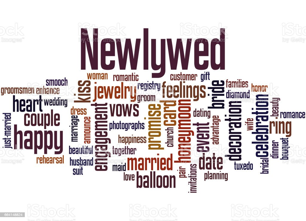 Newlywed, word cloud concept 6 newlywed word cloud concept 6 - immagini vettoriali stock e altre immagini di adulto royalty-free