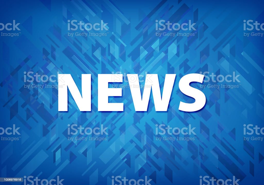 News Blue Background Stock Illustration - Download Image Now - iStock