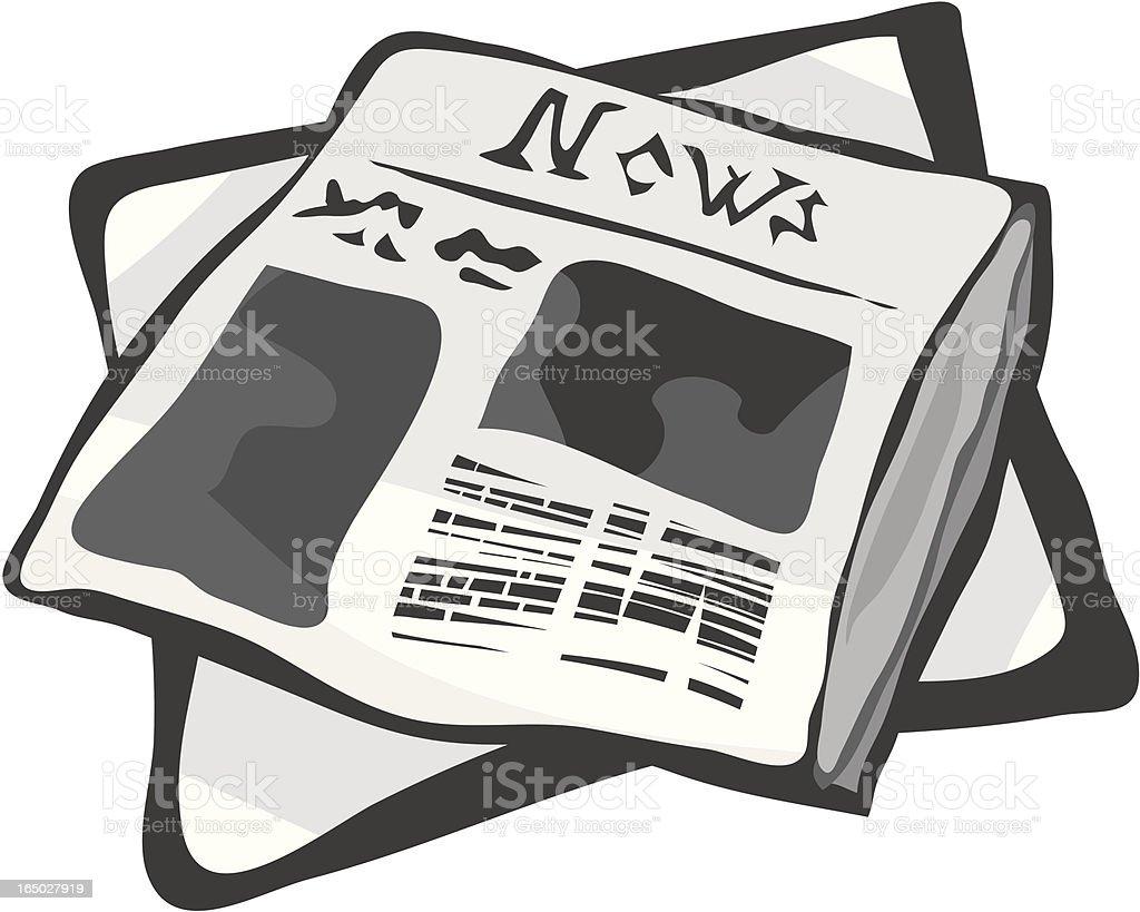 News vector art illustration