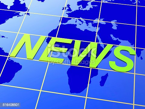 World News Representing Headlines Global And Globalize