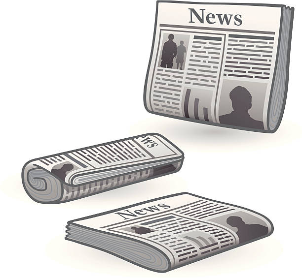 Newspapers Three different newspaper views. good news stock illustrations