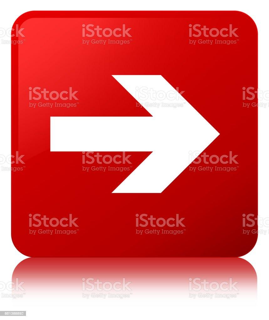 Next arrow icon red square button vector art illustration