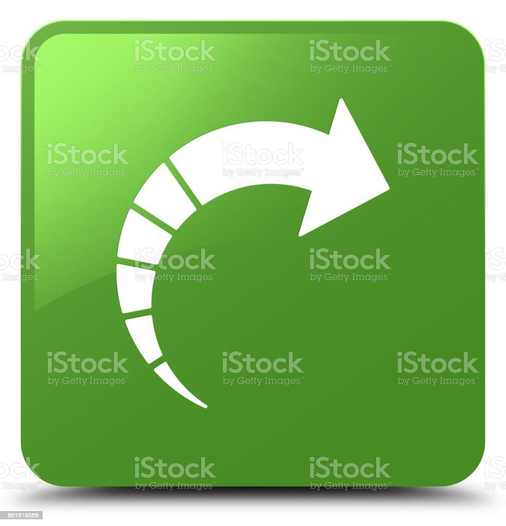 Next arrow icon soft green square button vector art illustration