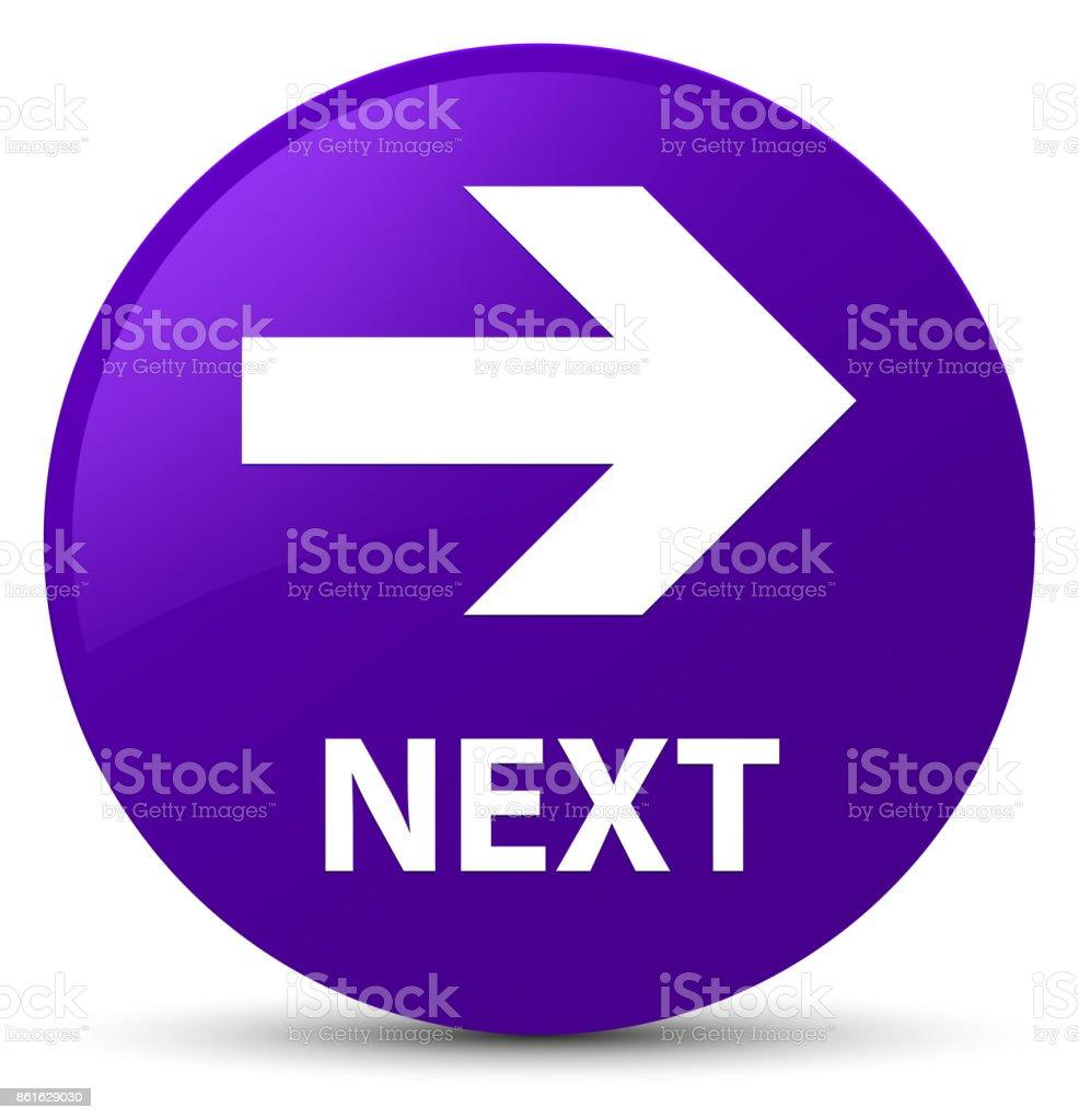 Next purple round button vector art illustration
