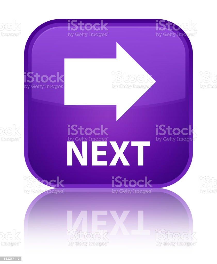 Next special purple square button vector art illustration