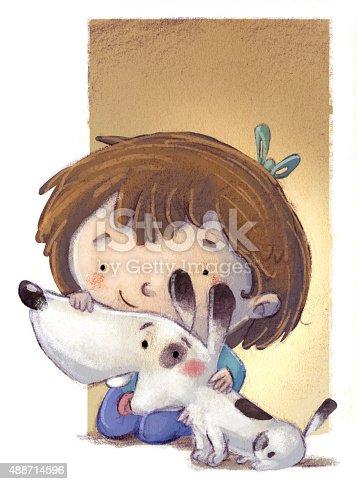 istock niña jugando con su perro 488714596