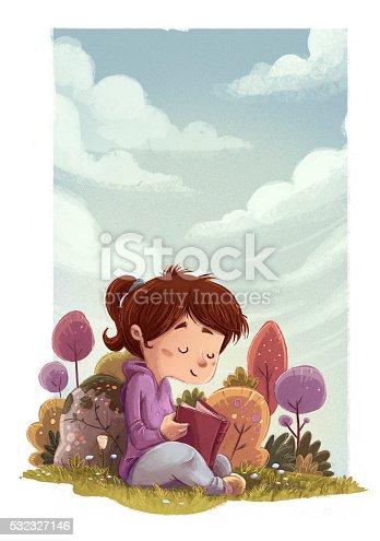 istock niña leyendo en la naturaleza un libro 532327146