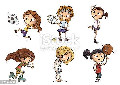 istock niñas haciendo deporte 474931766