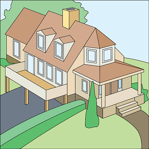 Nice house.eps vector art illustration