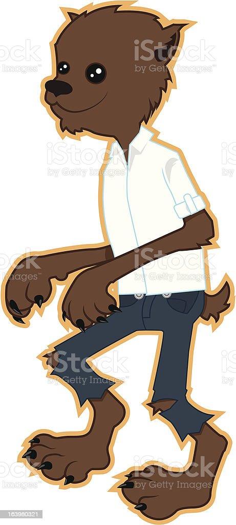 Nice Werewolf royalty-free stock vector art