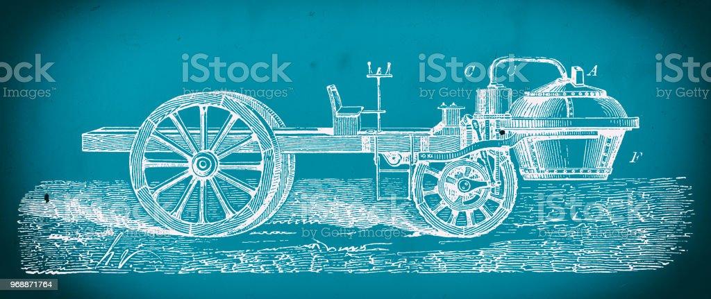 Nicolas joseph cugnots steam powered car blueprint stock vector art nicolas joseph cugnots steam powered car blueprint royalty free nicolas joseph cugnots steam powered car malvernweather Images