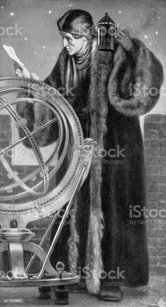 Nicolas Copernic-astronome - Illustration vectorielle