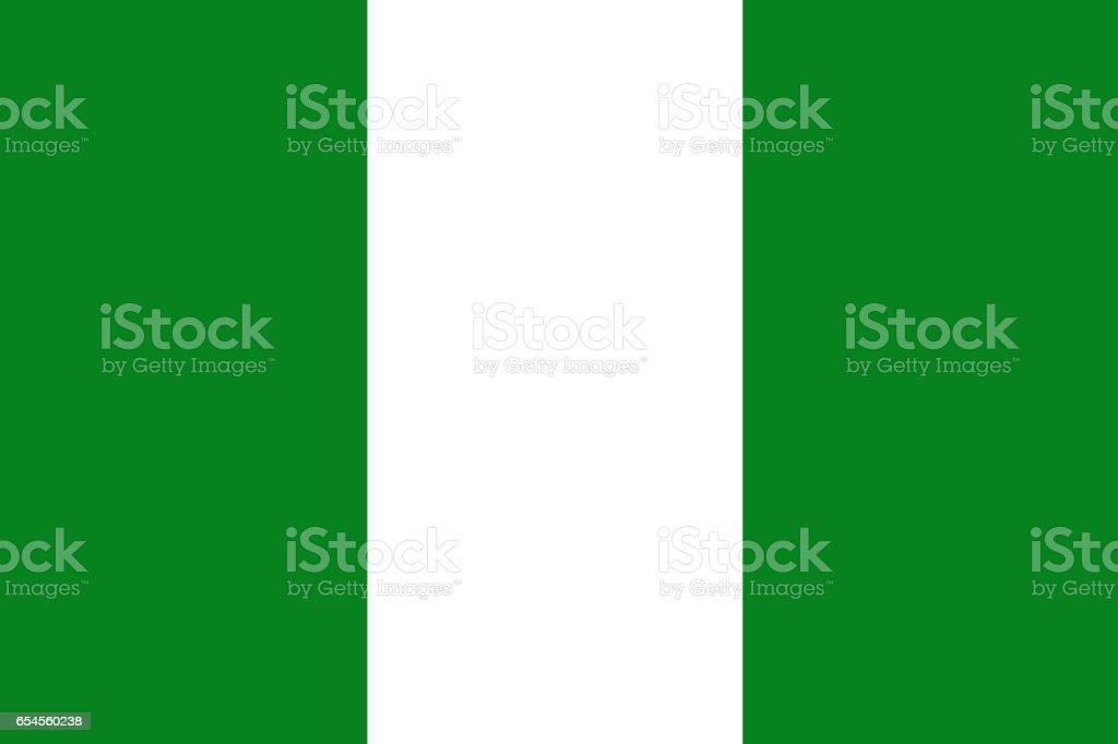 Nigeria national flag 3D illustration symbol vector art illustration
