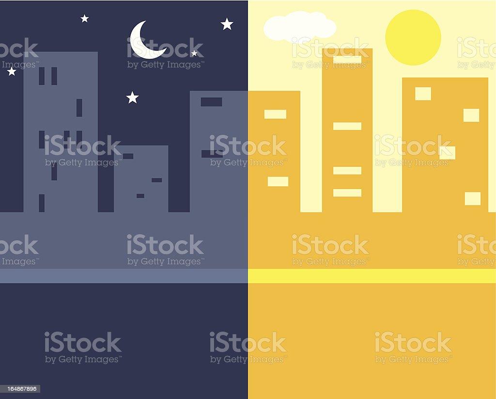 Nuit et jour - Illustration vectorielle