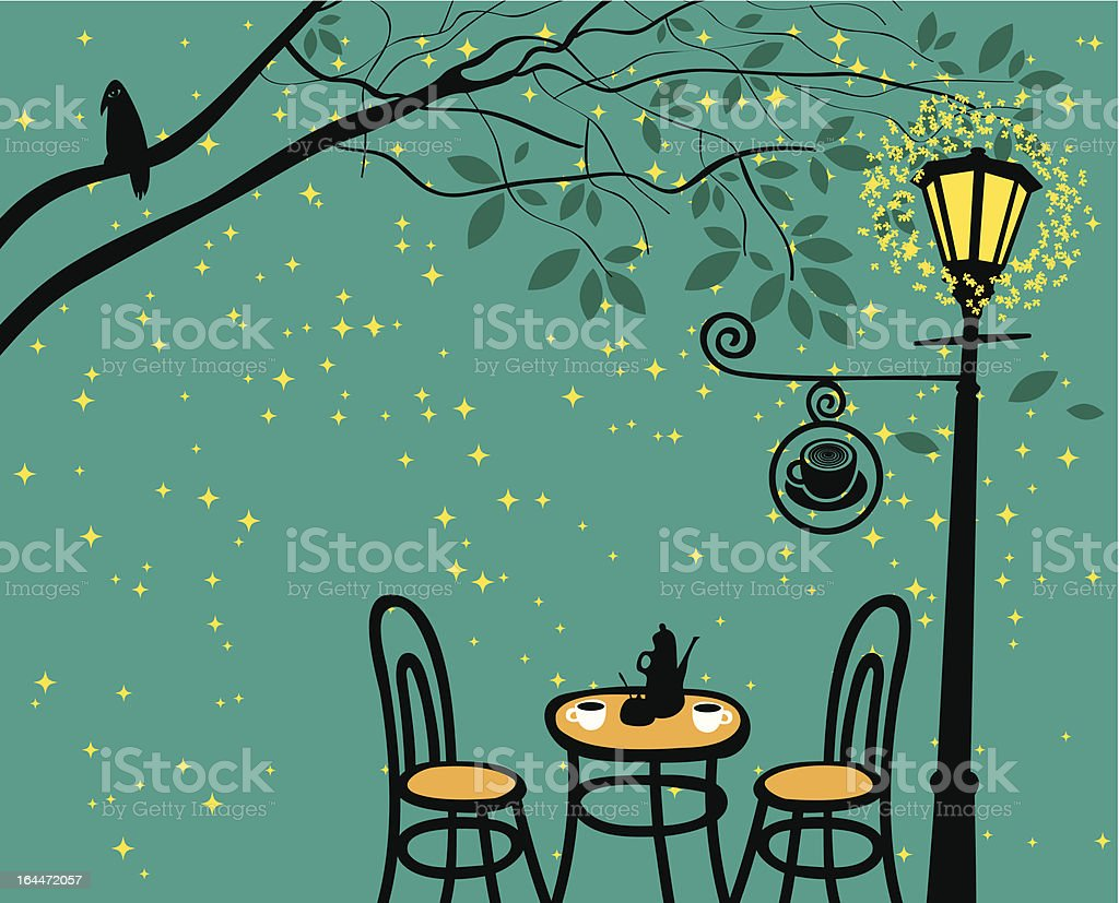 night café royalty-free stock vector art