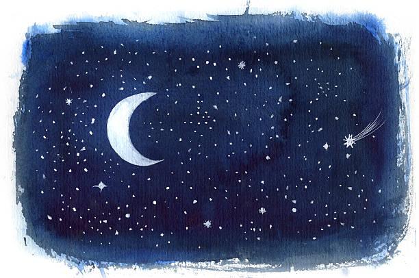 night sky - night sky stock illustrations, clip art, cartoons, & icons