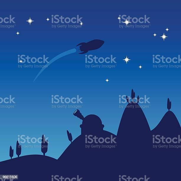 Night Sky Silhouette Stock Vektor Art und mehr Bilder von Baum