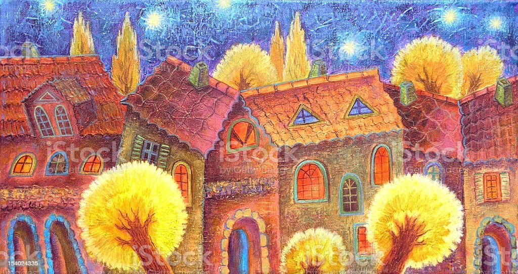 Night town royalty-free stock vector art