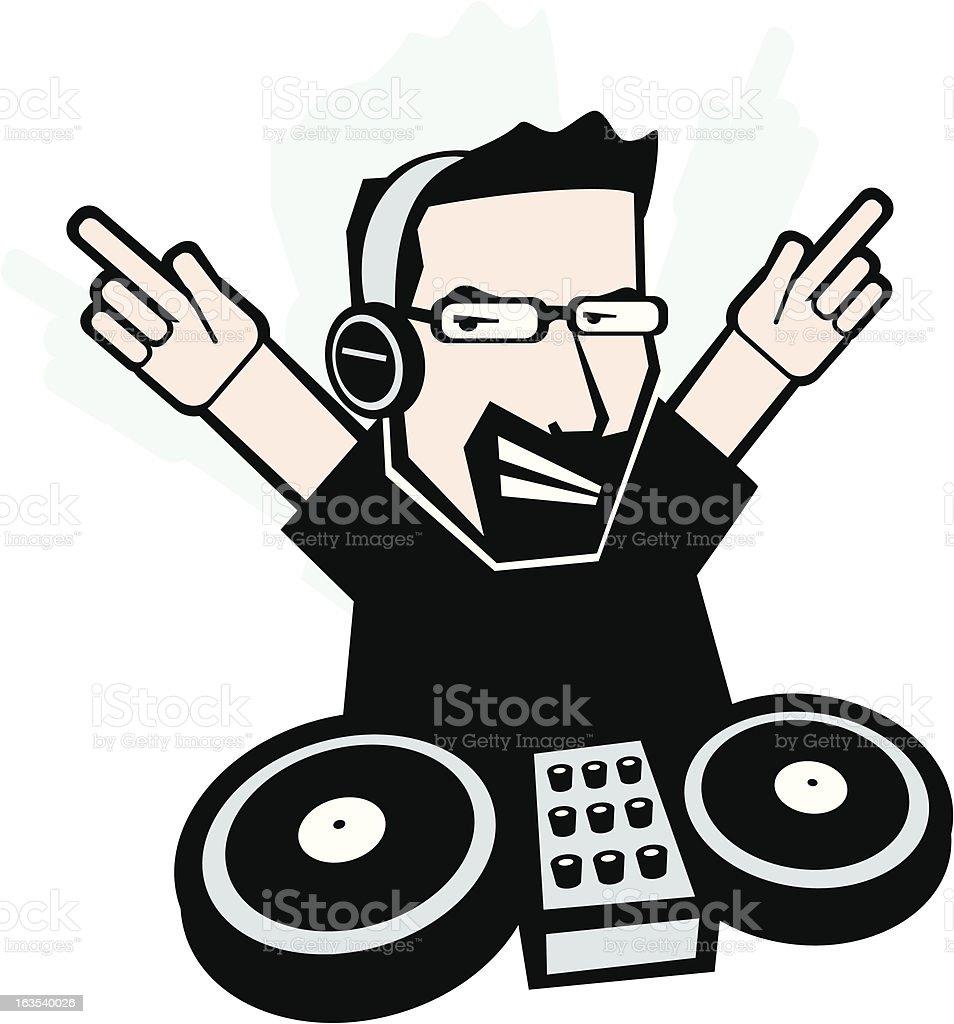 Nightclub DJ royalty-free stock vector art