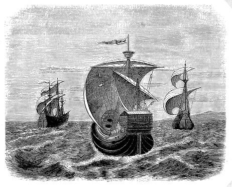 Nina, Pinta and Santa Maria - Christopher Columbus' ships