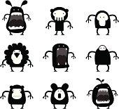 9 black creatures