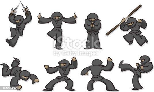 istock Ninjas 165594929