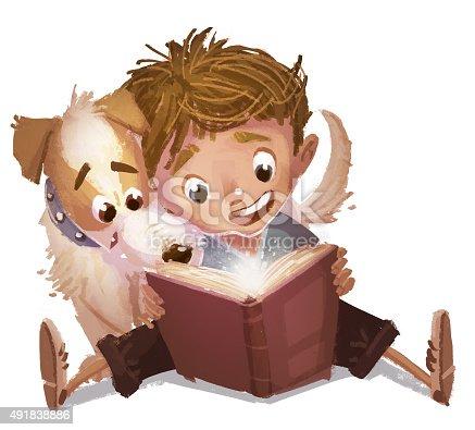 istock niño y perro leyendo un libro 491838886