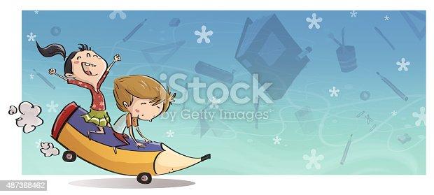 istock niños con lapiz gigante 487368462