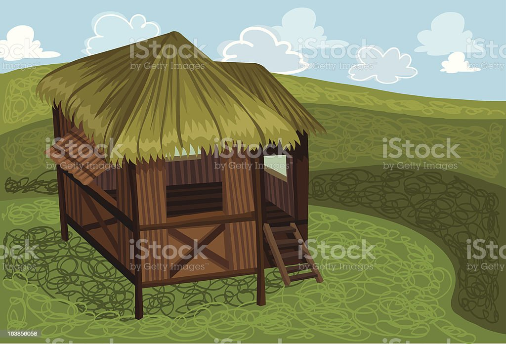 Nipa Hut royalty-free nipa hut stock vector art & more images of agriculture