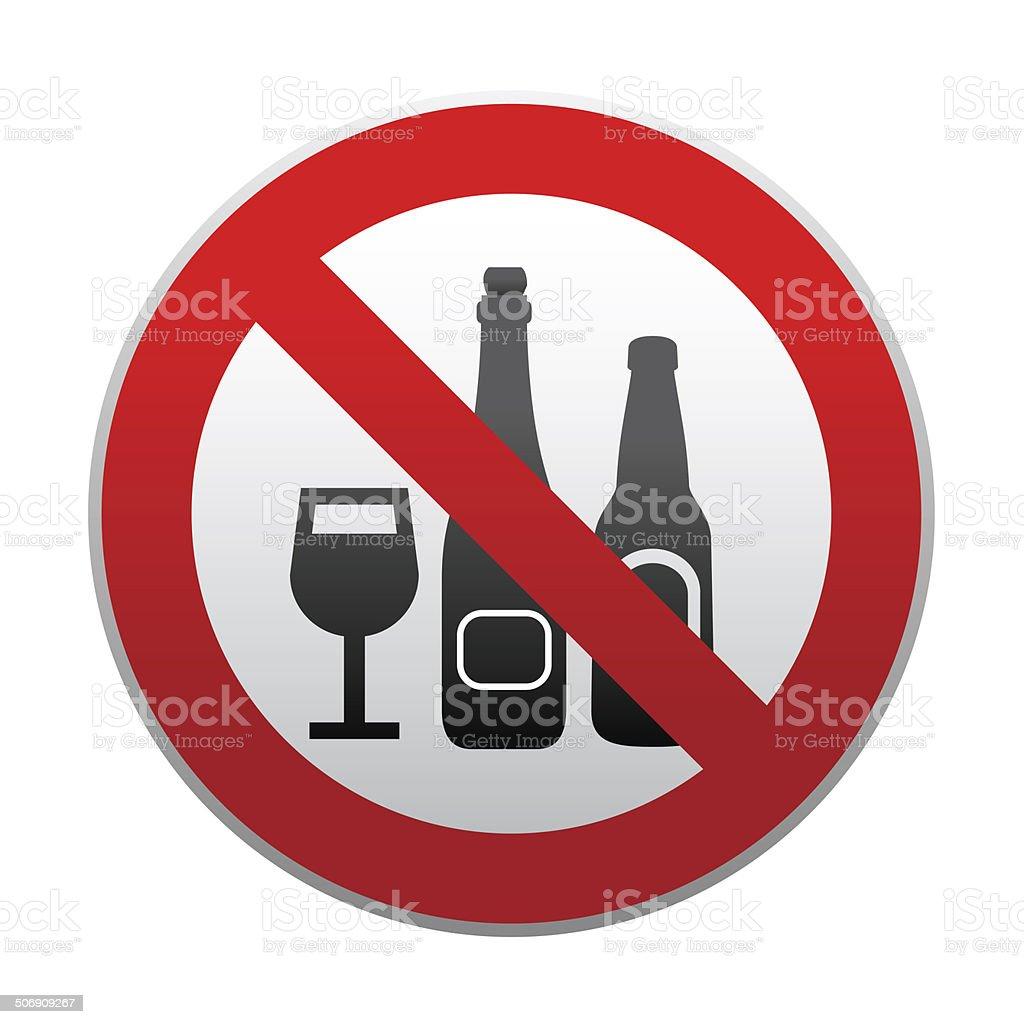 no alchohol sign vector art illustration